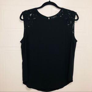 J Crew dress tank w/ lace shoulders